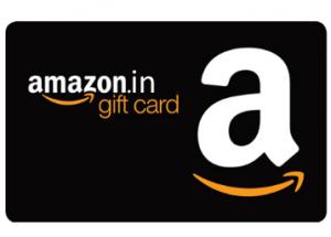 インドでのAmazonギフト券カードタイプの本体