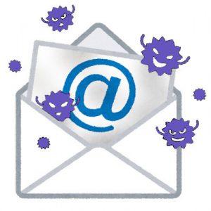 メールに添付されたウィルスのイラスト