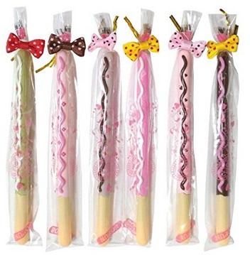 お菓子のようなかわいいペン6本セット